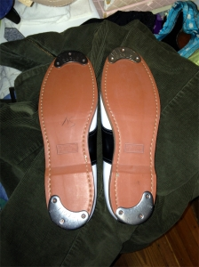 what size taps should i put on these saddle shoes