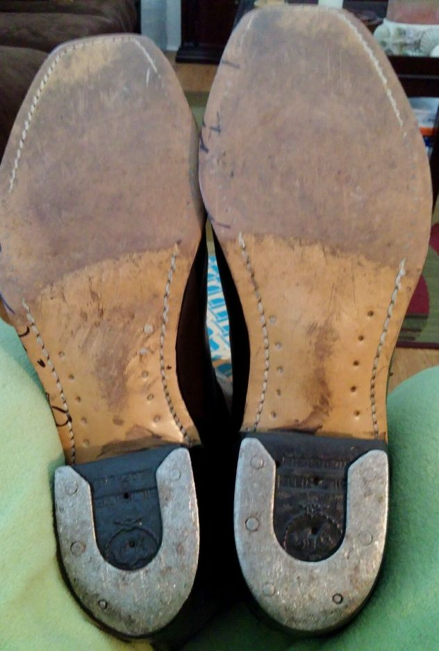 Mens Wrangler boots horssshoe taps 2